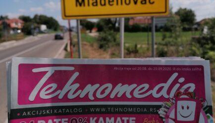 Podela flajera za kompaniju TEHNOMEDIA – Mladenovac